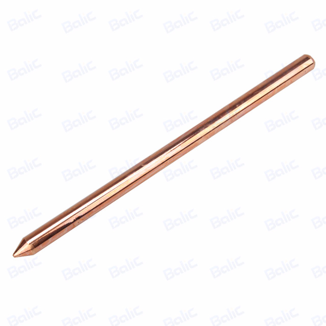Solid Copper Ground Rod, Pointed