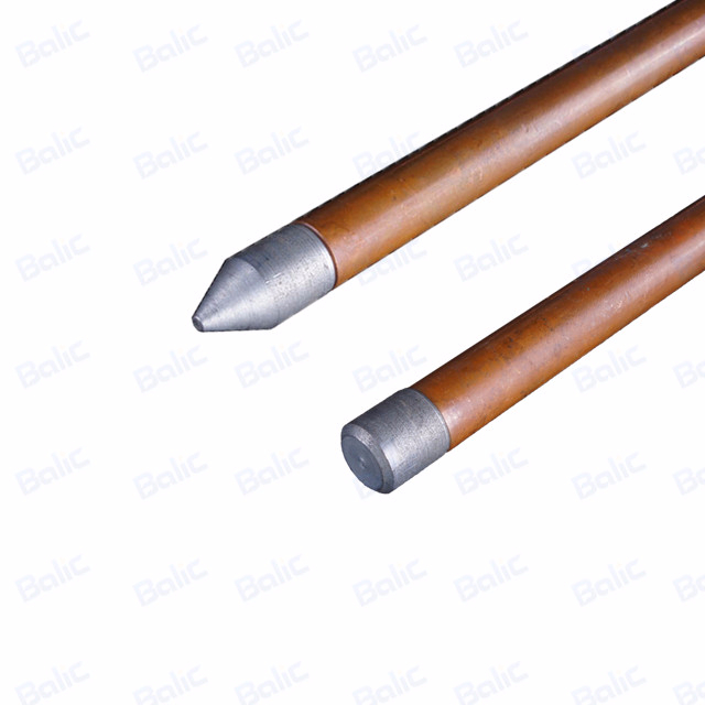 Solid Copper And Stainless Steel Earth Rod
