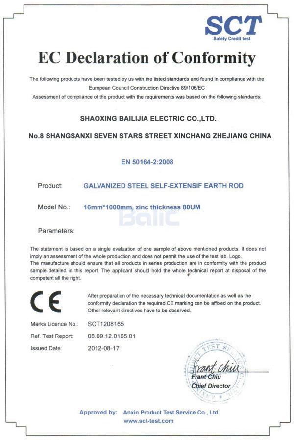 Balic CE Certification