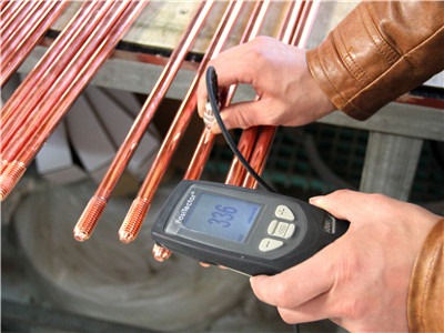 The grounding electrode coating thickness test